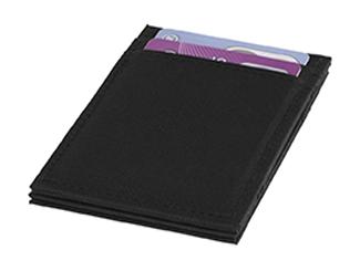 Adventurer RFID Flip Over Wallet, solid black (300D Polyester) CDDP-13003000