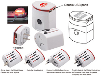 Universal Travel Adapter with USB CD-UT4713I