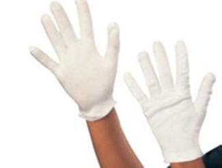 White Cotton Gloves CDHG-CLW0068