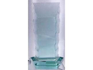 Wave Block Glass Trophy CD-VS-017