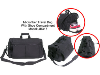 Microfiber Travel bag with Shoe Compartment CDN-JB317