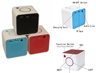 Mini Cube Bluetooth Speaker CDN-BT-4806