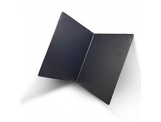 A4 BLACK CERTIFICATE HOLDER USING 2-SIDED 4-CORNER SLOTS CDN-C05