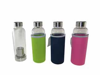 Glass Bottle with Tea Brewer CDN-GB-3355