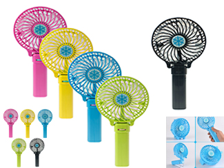 Battery operated foldable fan CDN-USB-1809